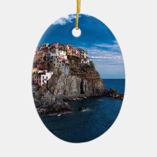 Manarola, cinque terre. Italy Ceramic Ornament