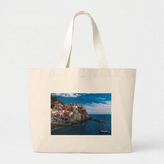 Manarola, cinque terre. Italy Large Tote Bag