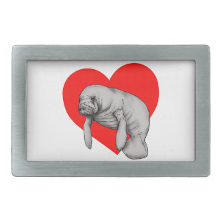 manatee art belt buckles