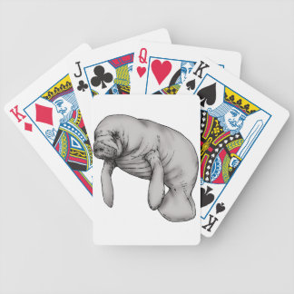 manatee art bicycle playing cards