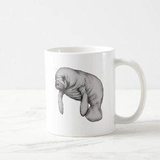 manatee art coffee mug