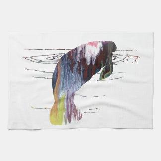 Manatee art kitchen towel