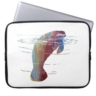 Manatee art laptop sleeve