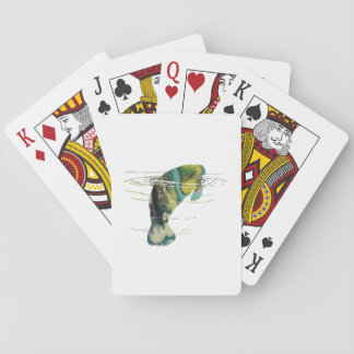 Manatee art playing cards