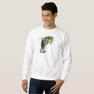 Manatee art sweatshirt