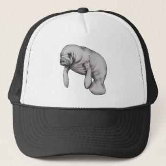 manatee art trucker hat