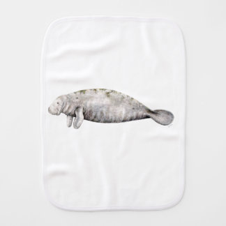 Manatee Burp Cloths