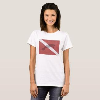 Manatee Diver Down Flag T-Shirt