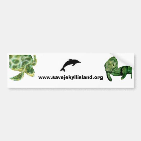 Manatee, dolphin, sea turtle bumper sticker