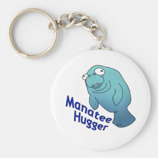 Manatee Hugger Keychain