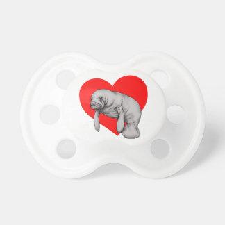 manatee love baby pacifiers