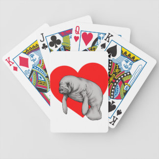 manatee love bicycle playing cards