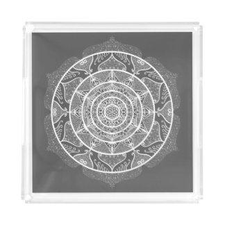Manatee Mandala Acrylic Tray