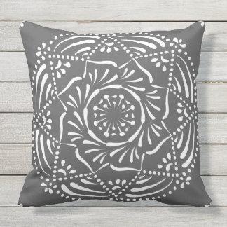 Manatee Mandala Outdoor Pillow