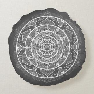Manatee Mandala Round Pillow
