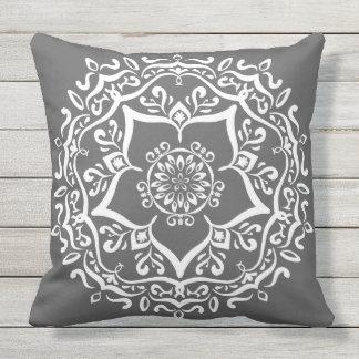 Manatee Mandala Throw Pillow