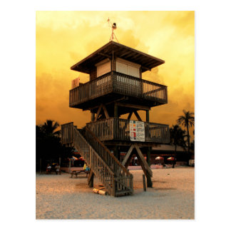Manatee Public Beach Lifeguard Station Postcard