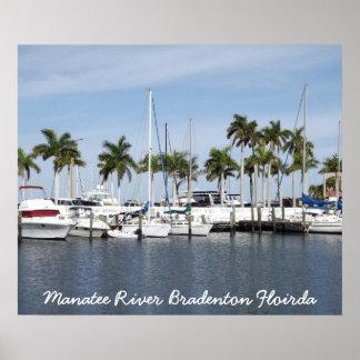 Manatee River Bradenton FL Poster