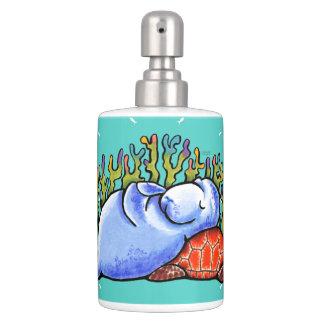 Manatee Sea Turtle Fishes Toothbrush Holder