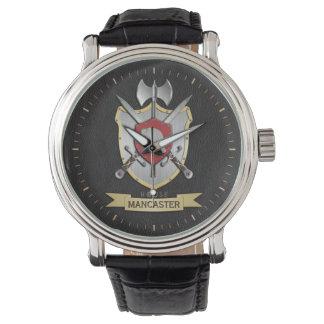 Manatee Sigil Battle Crest Surname Wrist Watch