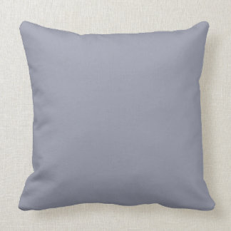 Manatee Solid Color Background Throw Pillow