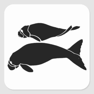 Manatees Square Sticker
