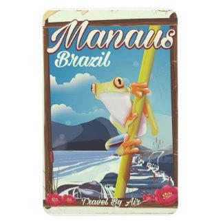 Manaus Brazil vintage travel poster Magnet