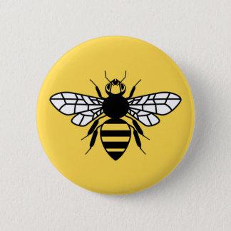 Manchester Bee 2 Inch Round Button