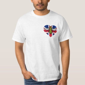 Manchester Bee and Union Jack Heart Solidarity T-Shirt