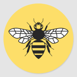 Manchester Bee Classic Round Sticker