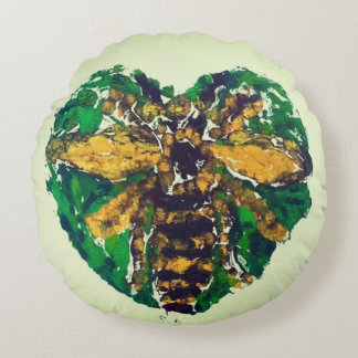Manchester Bee round cushion
