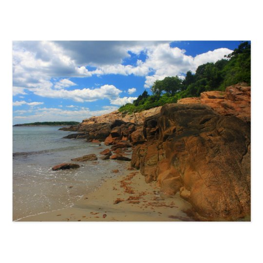 Manchester by the Sea Rocky Beach Postcard