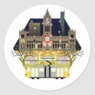 Manchester Christmas Markets Classic Round Sticker