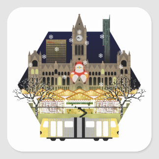 Manchester Christmas Markets Square Sticker