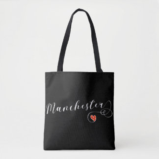 Manchester Heart Grocery Bag, England Tote Bag