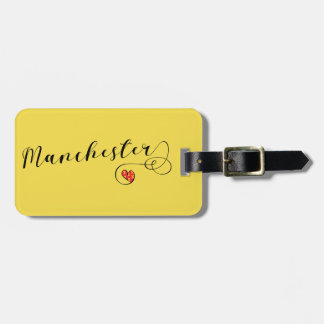 Manchester Heart Luggage Tag Template