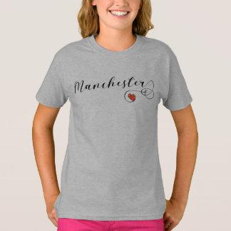 Manchester Heart Tee Shirt, England