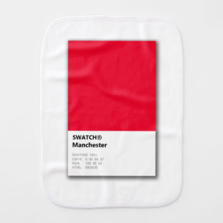 Manchester is RED Burp Cloth