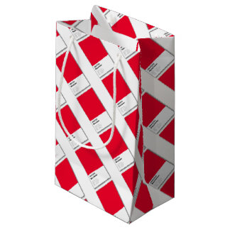 Manchester is RED Small Gift Bag