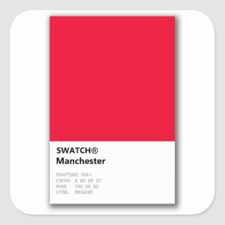 Manchester is RED Square Sticker