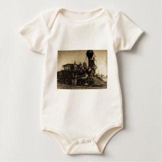 Manchester Locomotive Works Engine #55 Baby Bodysuit