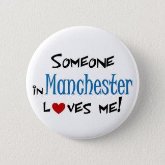 Manchester Love 2 Inch Round Button