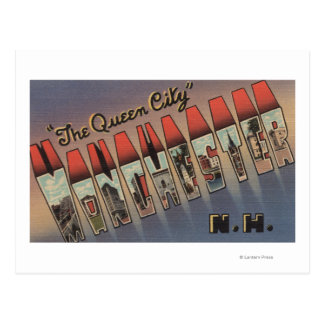 Manchester, New Hampshire - Large Letter Scenes Postcard