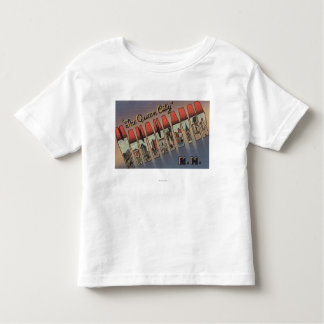 Manchester, New Hampshire - Large Letter Scenes Toddler T-shirt