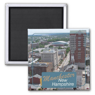 Manchester New Hampshire Travel Photo Magnets