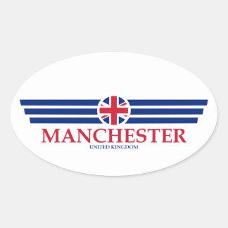 Manchester Oval Sticker