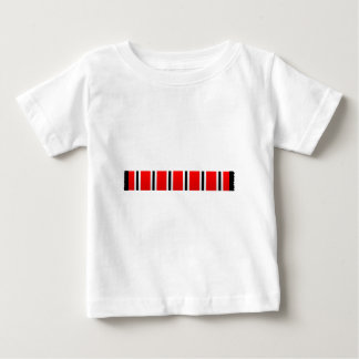 Manchester sporting red white and black bar scarf baby T-Shirt