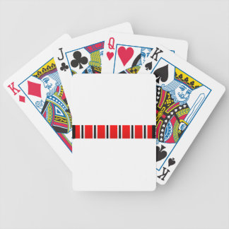 Manchester sporting red white and black bar scarf bicycle playing cards