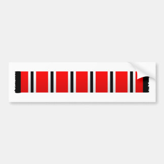 Manchester sporting red white and black bar scarf bumper sticker