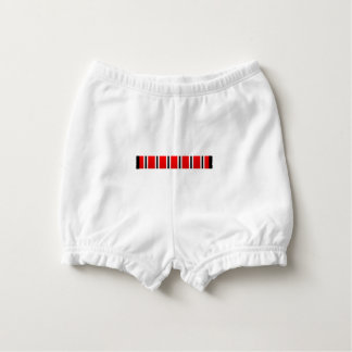 Manchester sporting red white and black bar scarf diaper cover